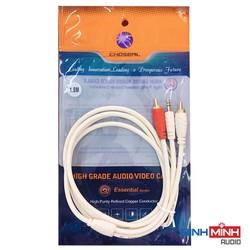 Combo Bộ chuyển quang âm thanh KIWI KA03 Pro hỗ trợ Bluetooth và Dây AV Choseal đầu 3.5mm ra 2 đầu hoa sen dài 1.8m [ĐƯỢC KIỂM HÀNG] [ĐƯỢC KIỂM HÀNG]