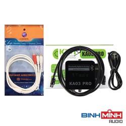Combo Bộ chuyển quang âm thanh KIWI KA03 Pro hỗ trợ Bluetooth và Dây AV Choseal đầu 3.5mm ra 2 đầu hoa sen dài 1.8m