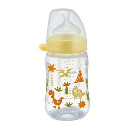 Bình sữa cổ rộng Nip nhập khẩu Đức, núm ti chỉnh nha, chống sặc size M cho bé từ 0 tháng tuổi