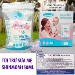 Túi trữ sữa, đựng sữa mẹ 150ml Shinmom Hàn Quốc nhựa BPA free 2 zip khóa an toàn