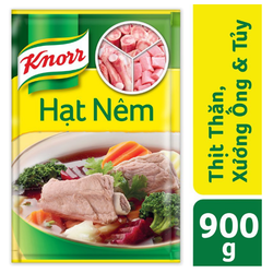 Hạt Nêm Knorr Từ Thịt Thăn, Xương Ống Và Tủy Bổ Sung Vitamin A (900gr)