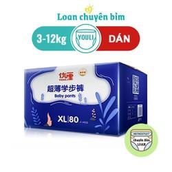 Bỉm Youli dán- quần Nội địa Trung cho bé Size S102, M96, L84, XL80, XXL72, XXXL68