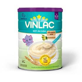 bột ăn dặm vinlac vị yến mạch sữa date 2022 - 333