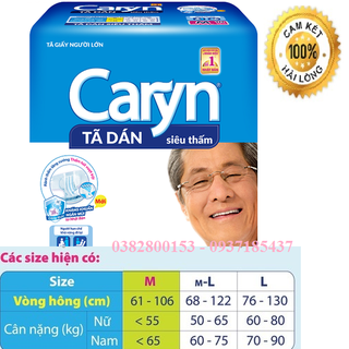 Tã dán Caryn cho người lớn zise ML 10 miếng - Tã dán CarynML10 thumbnail