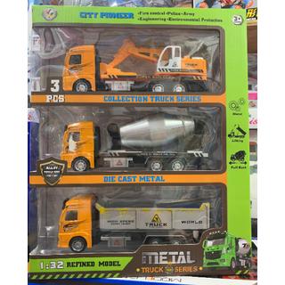 ĐỒ CHƠI AN TOÀN - mô hình 3 xe sắt công trình - KC4082 thumbnail