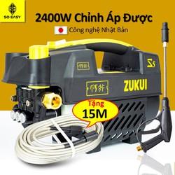 Máy rửa xe gia đình, may rua xe công suất mạnh 2400W có thể chỉnh áp, may rua xe mi ni, máy rửa xe áp lực cao, máy xịt rữa xe dễ dàng sử dụng, ống bơm nước 15m, vòi bơm áp lực cao C0003S5