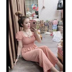 [ ĐƯỢC KIỂM HÀNG ] Set áo nhún quần dài mặc nhà nữ