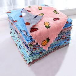 Combo 20 khăn lau size to hình vuông có họa tiết