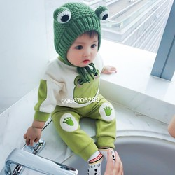 Bộ quần áo trẻ em dài tay thun cotton co dãn 4 chiều cho bé từ 0-5 tuổi