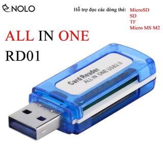 Đầu Đọc Thẻ Nhớ Cổng USB 2.0 All Reader In One Model RD01 Hỗ Trợ Đọc Thẻ MicroSD, SD, TF, MS Micro M2 Plug And Play - docthenhord01 thumbnail