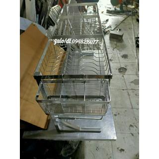 Kệ Để Chén Bát Inox SUS 304 Cao Cấp Phía Trên Chậu Rửa - KCR thumbnail