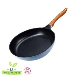 [Hàng chính hãng] Seoulcook (E) Chảo đúc cạn 26, 28cm xanh (dùng được tất cả các bếp, kể cả bếp từ)
