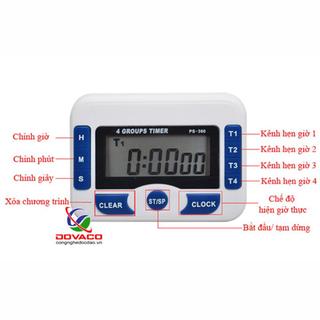 Đồng hồ bấm giờ đếm ngược điện tử 4in1 PS-360 - PS360 thumbnail