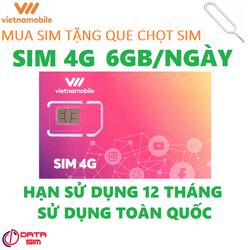 Sim 4G vietnamobile trọn đời 180GB hạn sử dụng 12 tháng.Tặng que chọt sim