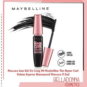 Mascara Làm Dài Và Cong Mi Maybelline.US The Hyper Curl Volum Express Waterproof Mascara 9.2ml - Maybl.Hyper