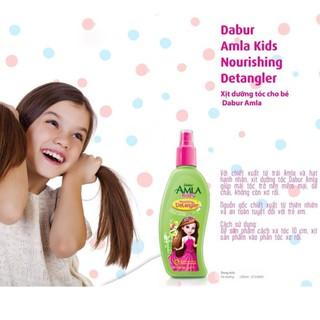 Xịt dưỡng tóc Dabur Amla cho trẻ em 200ml giúp tóc bé mềm mượt - xịt dưỡng amla thumbnail