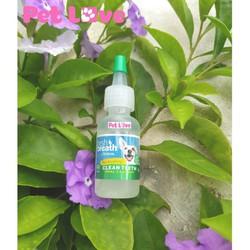 Gel mini vệ sinh răng miệng chó, giảm cao răng, mùi hôi (TropiClean, Mỹ)