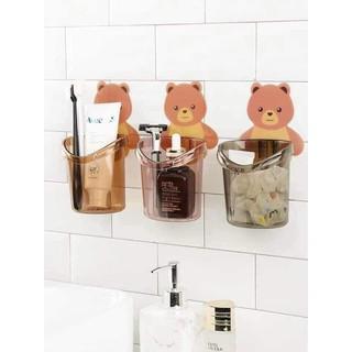 Combo 3 Cốc gấu cắm bàn chải dán tường - cocgau thumbnail