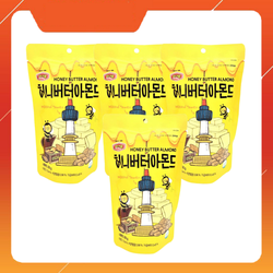 Combo 4 Túi Hạnh Nhân Tẩm Bơ Mật Ong Hàn Quốc Honey Butter Almond (Mỗi Túi 200g