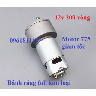 Motor giảm tốc 775 12V 200 rpm - Motor 775 giảm tốc JGB37 thumbnail