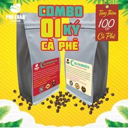 COMBO 1kg (2 gói) 2 loại cà phê Culi Robusta RANG MỘC VÀ CÓ BƠ Phú Xuân Coffee - Cà phê bột rang xay pha phin