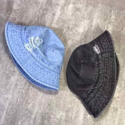 Mũ bucket jean rách bụi cực ngầu, Nón bucket jean rách bụi, Mũ tai bèo, Nón rộng vành rách bụi