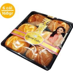 [Nhập SD7W3Y còn 39k][Free ship] Hộp 06 cái ( 168gr) Bánh Bông Lan Cheese Cake Hồng Kông - (Date: 03 tháng)[ BÁNH MỀM NGON]