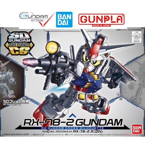 Gundam bandai sd rx-78-2 sdcs cross  mô hình nhựa đồ chơi lắp ráp anime nhật tỷ lệ sd