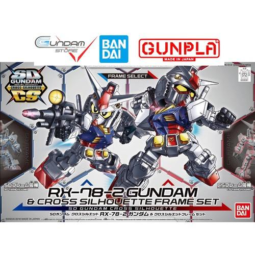 Gundam bandai sd rx-78-2 frame select sdcs cross uc mô hình nhựa đồ chơi lắp ráp anime nhật tỷ lệ sd