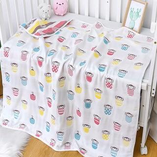 Chăn đắp cotton cao cấp cho bé, Chăn Đũi cotton Cho Bé 110x110cm - chanchobe thumbnail