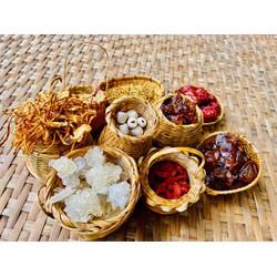set nguyên liệu nấu chè dưỡng nhan 12vị(500gr), tặng kèm táo đỏ