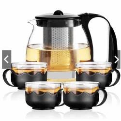 Bộ bình pha trà cách nhiệt kèm 4 cốc hàng cao cấp loại 1