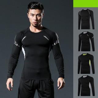 Áo tay dài Nam tập gym thể thao đen cao cấp phong cách 2020 - AMN006-C thumbnail
