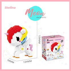 Mini Block Đồ chơi xếp hình lego - Unicorn Stelina - size L - 919pcs