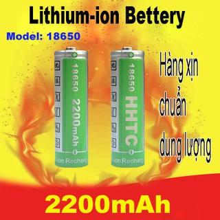 Pin sạc 18650 HHTC 2200mAh Chuẩn dung lượng hàng vip ( giá 1 cục ) - HHTC thumbnail