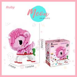 Mini Block Đồ chơi xếp hình lego -Unicorn Ruby - size L - 919pcs
