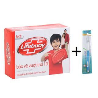 Combo xà phòng Lifebuoy 90g và bàn chải đánh răng SUWADEE - CỤC LIFEBUOY + 1 BÀN CHẢI thumbnail