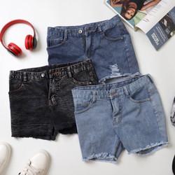 Quan short jean nữ vải giản ôm