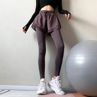 Quần ngắn tập gym Nữ thể thao có lót dài tím, xanh lá, đen phong cách 2020 (QFN002-C, QFN001-C) - QFN002-C, QFN001-C thumbnail