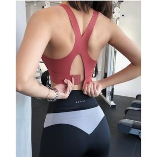 Áo tập gym thể thao Nữ Đen có sẵn móc cài, mút lót ngực phong cách 2020 (AFN001-V) - AFN001-V thumbnail