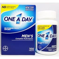 One a day men 's hãng Bayer hộp 100 viên từ Mỹ – Vitamin tổng hợp cho nam giới dưới 50