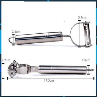 [Mua 2 freeship]Combo 3 Dụng cụ nạo gọt inox đa năng 2 lưỡi tiện dụng - Dụng cụ nạo gọt inox đa năng thumbnail