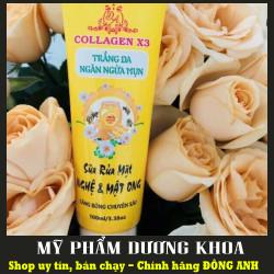 Sua Rua Mat Nghệ và Mật Ong Collagen X3 - Sữa rửa mặt Nghệ và Mật ong Collagen x3 100ml