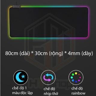 Bàn Di Chuột RGB, Lót Chuột Pad RGB Loại Lớn Tấm Lót Chuột PUBG 80x30cmx4mm - DC3410 thumbnail