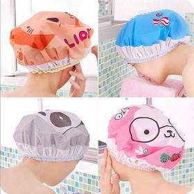 Mũ trùm đầu tóc chống nước khi tắm - Màu ngẫu nhiên - BH831
