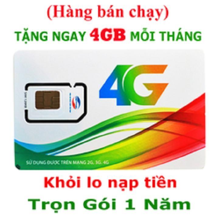 (48GB TỐC ĐỘ CAO) Sim 4G Viettel D500 trọn gói 1 năm