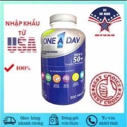Vitamin tổng hợp cho NAM trên 50 tuổi ONE A DAY MEN 50+ chai 300 viên