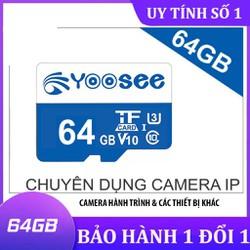 Thẻ nhớ Yoosee 64GB Class 10 cho camera ip, điện thoại, máy tính bảng