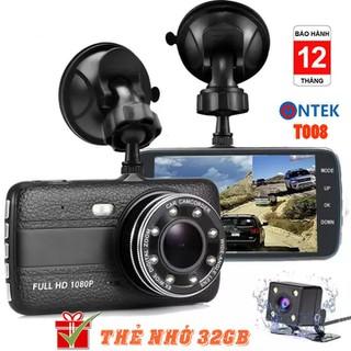 [ Tặng thẻ Nhớ 32GB] Camera Hành trinh ONTEK T008 trước sau FHD1080P, Tích hợp 8LED, Màn hình siêu đẹp, ống kính kép - Camera hành trình T008 thumbnail