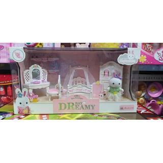 6616 - bộ đồ chơi giường tủ, bàn trang điểm búp bê, đồ chơi nhà búp bê - 00804 thumbnail